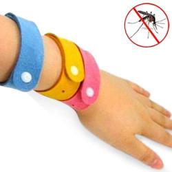 Pulseras Antimosquitos BUGS STOP Rojo